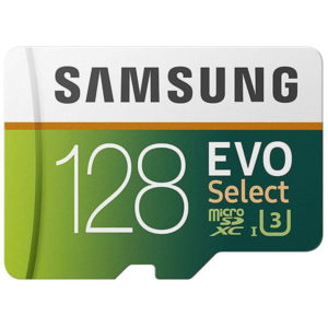 Samsung 128GB 100MB/s (U3) MicroSDXC Evo Select Memory Card with Adapter