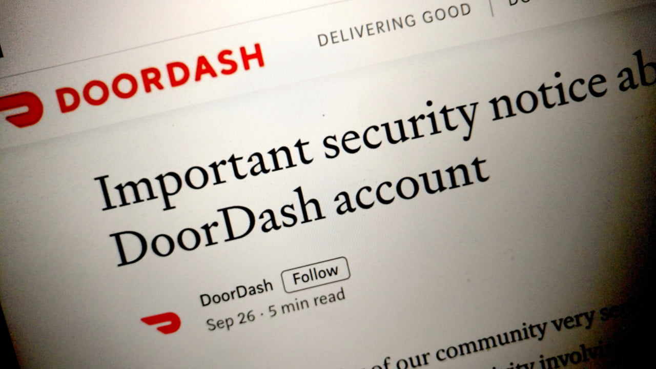 665701 doordash breach - DoorDash Breach Hits 4.9 Million Users, Including Delivery Drivers | News & Opinion