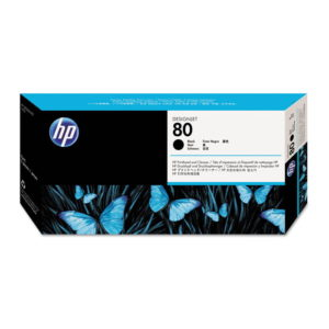HP 80 Black Original Printhead and Printhead Cleaner (C4820A)