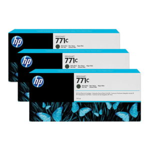 HP 771C Matte Black Original Ink(B6Y31A) 3 Pack