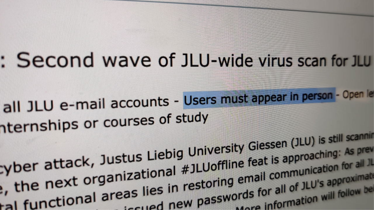 681255 university password reset - German University Forced to Hand Out 38,000 Passwords in Person | News & Opinion
