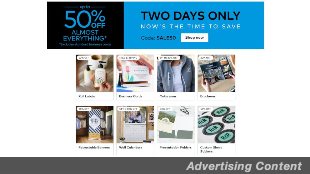 683444 vistaprint sponsored article - Save Up to 50 Percent on Almost Everything From Vistaprint | News & Opinion