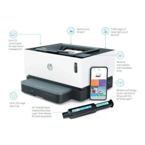 HP Neverstop LaserJet MFP 1200w Printer