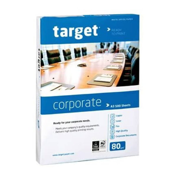 Target A3 White Paper 80gsm 500 Sheets