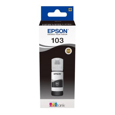 Epson 103 Black Original Ink Bottle (C13T00S14A) 65ml