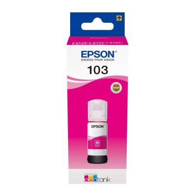 Epson 103 Magenta Original Ink Bottle (C13T00S34A) 65ml