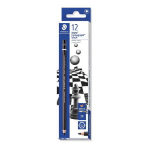 Staedtler Mars Lumograph Black Art Pencils 2B 12 Pack