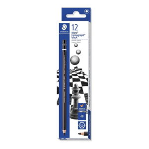 Staedtler Mars Lumograph Black Art Pencils 4B 12 Pack