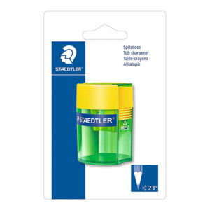 Staedtler (511 006 BK) Tub Pencil Sharpener On Blister Card
