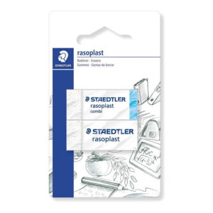 Staedtler (526-S BK2D) Eraser Blister Card with 1 Rashproof