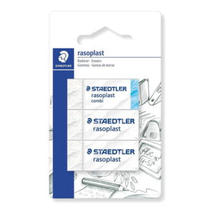 Staedtler (526-S BK3D) Eraser Blister Card with of Rasoplast