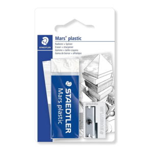 Staedtler Mars Plastic 526 S3BK2D Sharpener and Eraser