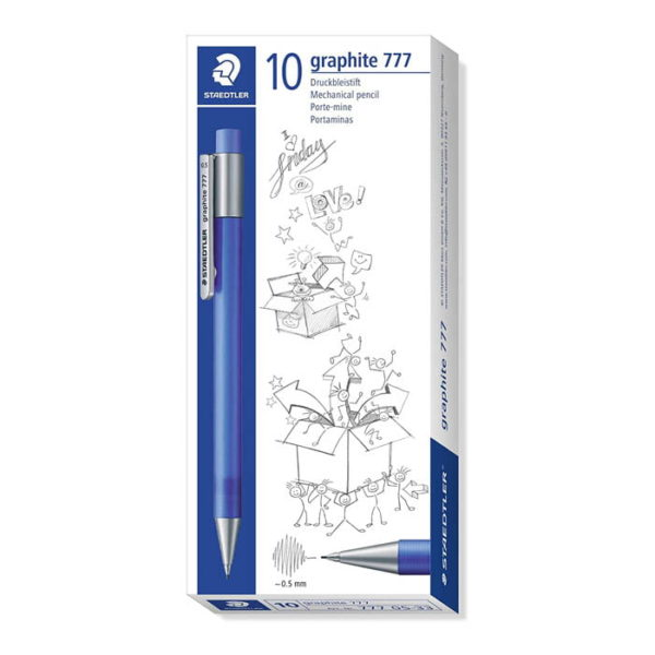 Staedtler Staedtler (777 05 – 33) Mechanical Pencil Graphite 0.5 mm 10 Pack