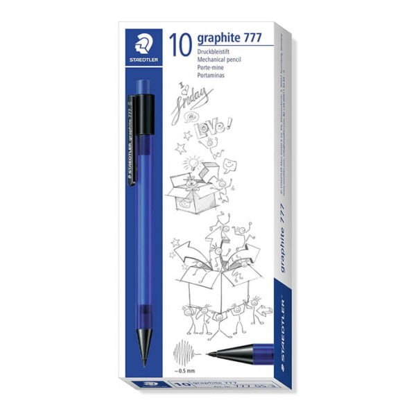 Staedtler Graphite (777) 0.5MM Mechanical Pencils 10 Pack