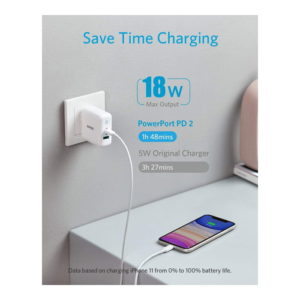 Anker PowerPort PD 33W 2 Port Fast Charger (White)
