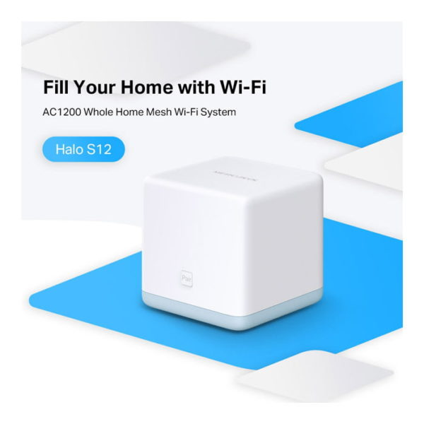 MERCUSYS Halo S12 AC1200 Whole Home Mesh Wi-Fi System (3 Pack)