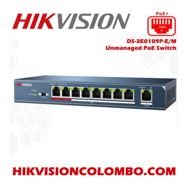 HIKVISION DS-3E0109-E/M 10/100 Mbps unmanaged switch with 9-Port PoE