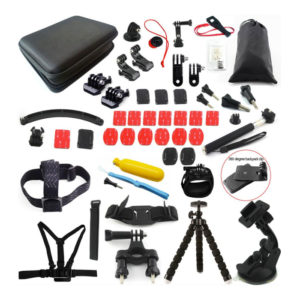 Action Camera Accessory Kit 54-In-1, Compatible with GoPro Hero10/Hero9/Hero8/Hero7, GoPro Max, GoPro Fusion, Insta360, DJI Osmo Action, AKASO, APEMAN, Campark, SJCAM