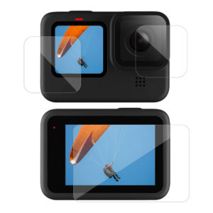 Screen Protector Temper Glass Ultra Clear LCD + Lens Protecter 3pcs For Go Pro Hero 8 9 10